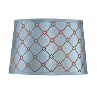 Dolan Designs Mix and Match Large Modified Barrel Lamp Shade Only in Blue and Brown Patterned 140100