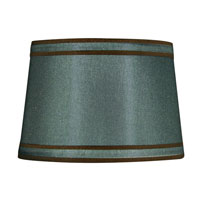 Dolan Designs Mix and Match Large Modified Barrel Lamp Shade Only in Green With Brown Piping 140101