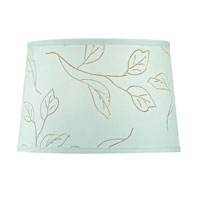 Dolan Designs Mix and Match Large Modified Barrel Lamp Shade Only in Mint Green With Brown Leaf Pattern 140102
