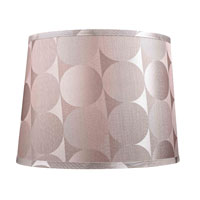 Dolan Designs Mix and Match Modified Barrel Hardback Lamp Shade Only in Silver 140111