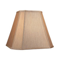 Dolan Designs Mix and Match Cut Corner Straight Sides Lamp Shade Only in Gold Beige 140121