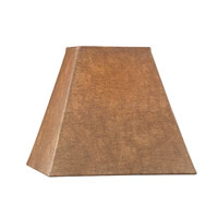 Dolan Designs Mix and Match Medium Square Hardback Lamp Shade Only in Brown Faux Leather 160041