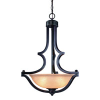 Garrison 3 Light 20 inch Antique Bronze Pendant Ceiling Light
