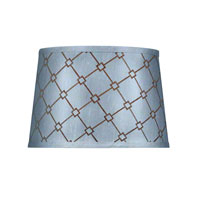 Dolan Designs Mix and Match Medium Modified Barrel Hardback Lamp Shade Only in Blue and Brown Patterned 160100