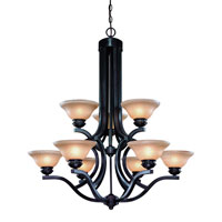Garrison 9 Light 34 inch Antique Bronze Chandelier Ceiling Light