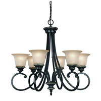Hastings 6 Light 27 inch Phoenix Chandelier Ceiling Light