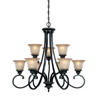 Hastings 9 Light 32 inch Phoenix Chandelier Ceiling Light