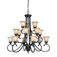 Hastings 15 Light 38 inch Phoenix Chandelier Ceiling Light