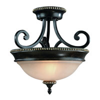 Hastings 2 Light 15 inch Phoenix Semi-Flush Mount Ceiling Light