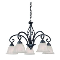 Wicker Park 5 Light 25 inch Olde World Iron Chandelier Ceiling Light