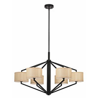 Dolan Designs Monaco 6 Light Chandelier in Ebony Bronze 1882-40 photo thumbnail