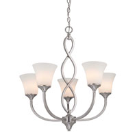 Dolan Designs Infini 5 Light Chandelier in Satin Nickel 1890-09