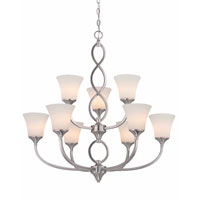 Infini 9 Light 31 inch Satin Nickel Chandelier Ceiling Light