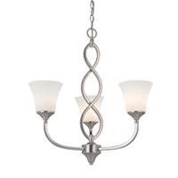 Dolan Designs Infini 3 Light Chandelier in Satin Nickel 1897-09