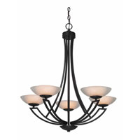 Delany 5 Light 28 inch Warm Bronze Chandelier Ceiling Light