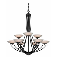 Dolan Designs Delany 9 Light Chandelier in Warm Bronze 1902-46