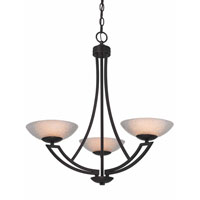 Dolan Designs Delany 3 Light Chandelier in Warm Bronze 1907-46