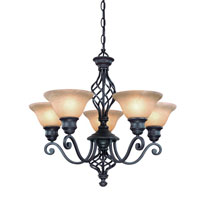 Dolan Designs Atlantis 5 Light Chandelier in Georgian 1960-75