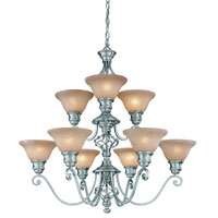 Dolan Designs Atlantis 9 Light Chandelier in Satin Nickel 1962-09