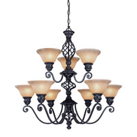 Atlantis 9 Light 32 inch Georgian Chandelier Ceiling Light