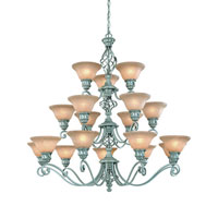 Atlantis 18 Light 42 inch Satin Nickel Chandelier Ceiling Light