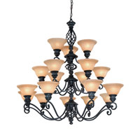 Dolan Designs Atlantis 18 Light Chandelier in Georgian 1963-75