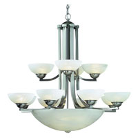 Fireside 15 Light 38 inch Satin Nickel Chandelier Ceiling Light in Alabaster