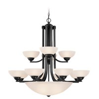 Fireside 15 Light 38 inch Satin Nickel Chandelier Ceiling Light in Satin White