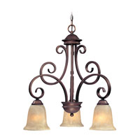 Medici 3 Light 24 inch English Bronze Chandelier Ceiling Light