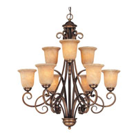 Medici 9 Light 32 inch English Bronze Chandelier Ceiling Light