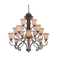Medici 15 Light 44 inch English Bronze Chandelier Ceiling Light