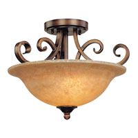 Medici 2 Light 16 inch English Bronze Semi-Flush Mount Ceiling Light