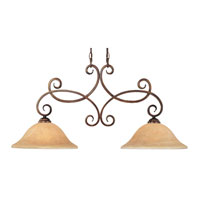 Dolan Designs Medici 2 Light Island Light in English Bronze 2097-133 photo thumbnail