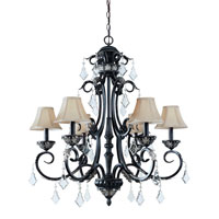 Florence 6 Light 34 inch Phoenix Chandelier Ceiling Light