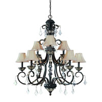 Florence 9 Light 36 inch Phoenix Chandelier Ceiling Light