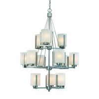 Uptown 12 Light 31 inch Satin Nickel Chandelier Ceiling Light