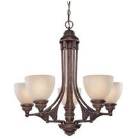 Dolan Designs 2290-90 Broughton 5 Light 28 inch Sienna Chandelier Ceiling Light