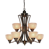 Dolan Designs Wicklow 9 Light Chandelier in Sienna 2302-90
