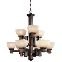 Dolan Designs Belltown 9 Light Chandelier in Sienna 2372-90