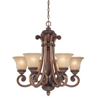 Dolan Designs Carlyle 6 Light Chandelier in Canyon Clay 2400-54