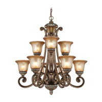 Carlyle 9 Light 32 inch Verona Chandelier Ceiling Light in Aged Amber