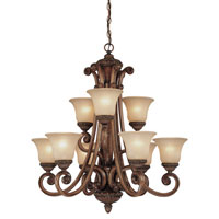Dolan Designs Carlyle 9 Light Chandelier in Canyon Clay 2402-54