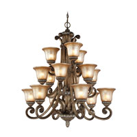 Carlyle 15 Light 37 inch Verona Chandelier Ceiling Light in Aged Amber