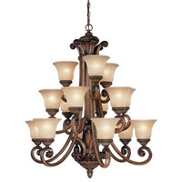 Dolan Designs 2403-54 Carlyle 15 Light 37 inch Canyon Clay Chandelier Ceiling Light in Carmelized