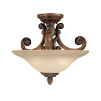 Dolan Designs Carlyle 2 Light Semi-Flush Mount in Canyon Clay 2405-54
