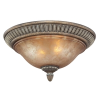 Carlyle 2 Light 16 inch Verona Flushmount Ceiling Light in Aged Amber