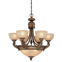 Dolan Designs Fairview 9 Light Chandelier in Canyon Clay 2450-54 photo thumbnail