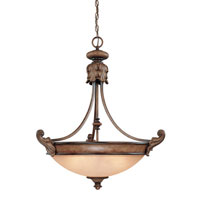 Dolan Designs Fairview 3 Light Pendant in Canyon Clay 2459-54