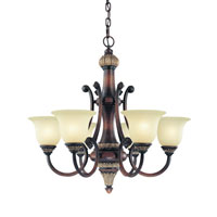 Dolan Designs Bonita 6 Light Chandelier in Yuma 2640-211