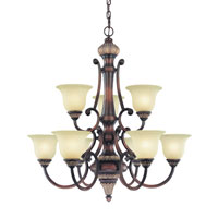 Bonita 9 Light 33 inch Yuma Chandelier Ceiling Light